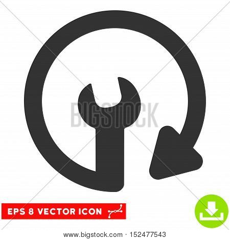 Repeat Service EPS vector icon. Illustration style is flat iconic gray symbol on white background.