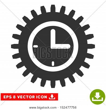 Time Options EPS vector icon. Illustration style is flat iconic gray symbol on white background.