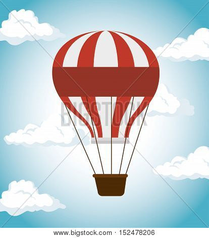 air balloon festival funfair icon vector illustration eps 10