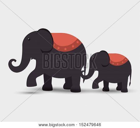 circus elephants festival funfair vector illustration eps 10