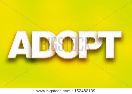 Adopt Concept Colorful Word Art