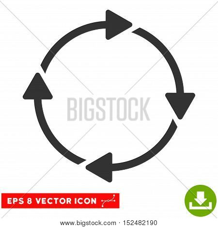 Rotation EPS vector pictogram. Illustration style is flat iconic gray symbol on white background.