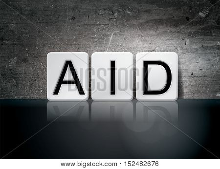 Aid Tiled Letters Concept And Theme