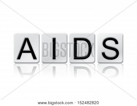 Aids Isolated Tiled Letters Concept And Theme