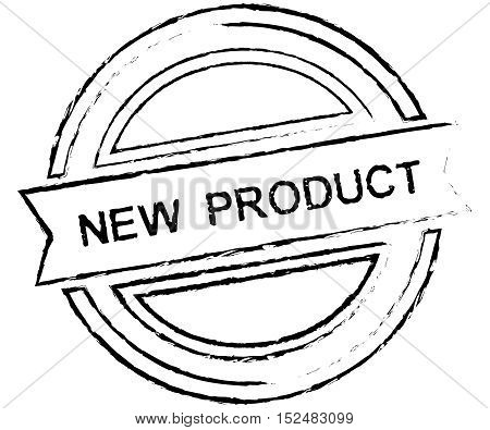 Black grunge New Product rubber stamp isolated on white background
