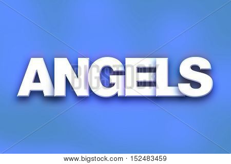 Angels Concept Colorful Word Art