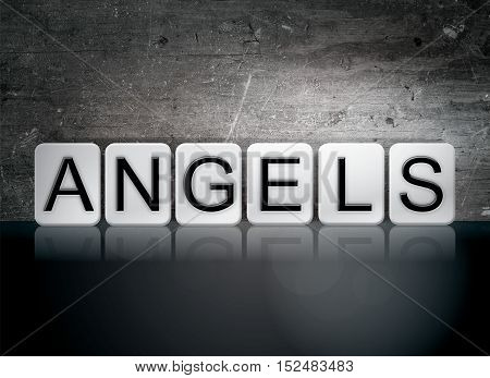 Angels Tiled Letters Concept And Theme