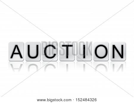 Auction Isolated Tiled Letters Concept And Theme