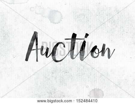 Auction Concept Painted In Ink