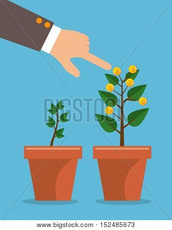 plant growing coins business vector illustration eps 10
