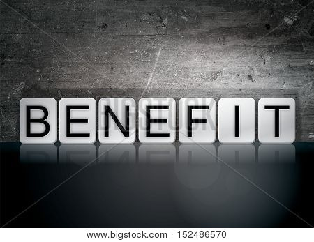 Benefit Tiled Letters Concept And Theme