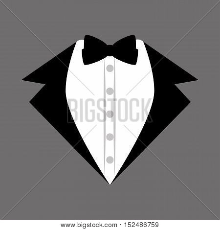 groom suit bowtie wedding icon design, vector illustration  graphic