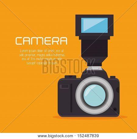 photo camera flash professional design, vector illustration graphic