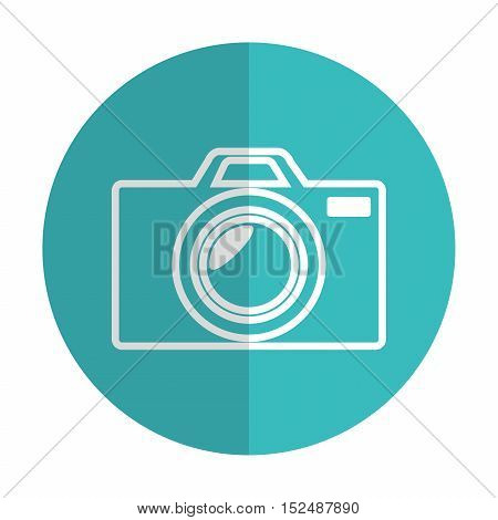 icon photographic camera silhouette blue shadow vector illustration