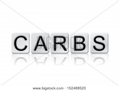 Carbs Isolated Tiled Letters Concept And Theme