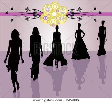 Ilustración de moda chicas - Vector