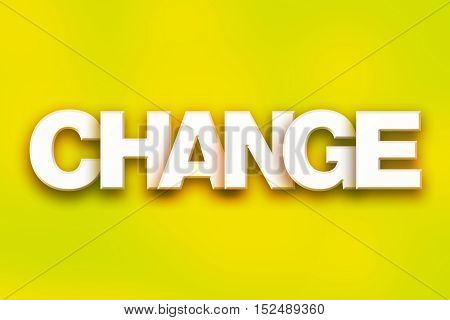 Change Concept Colorful Word Art
