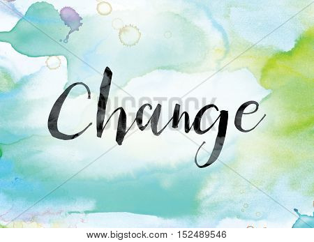 Change Colorful Watercolor And Ink Word Art