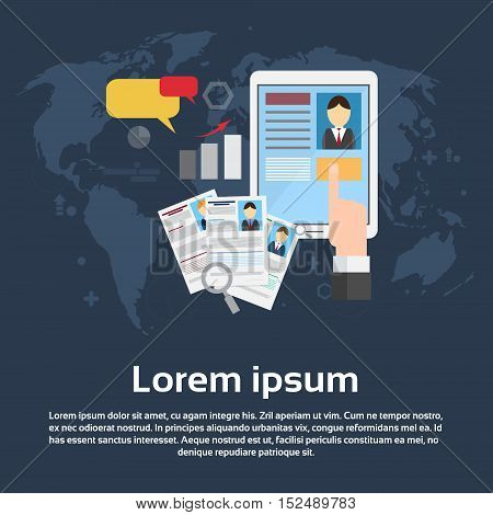 Curriculum Vitae Recruitment Candidate Job Position Business Web Banner Flat Vector Illustration