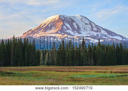 Beautiful Colorful Image Of Mount Adams