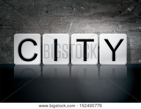 City Tiled Letters Concept And Theme
