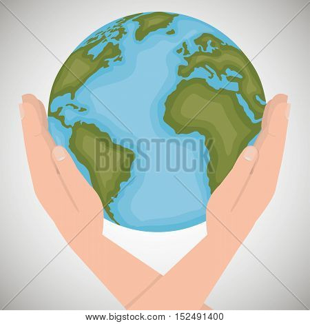 environmental icon save the world vector illustration eps 10