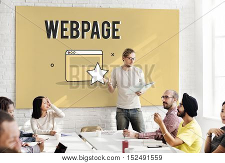 Bookmark Star Web Page Concept