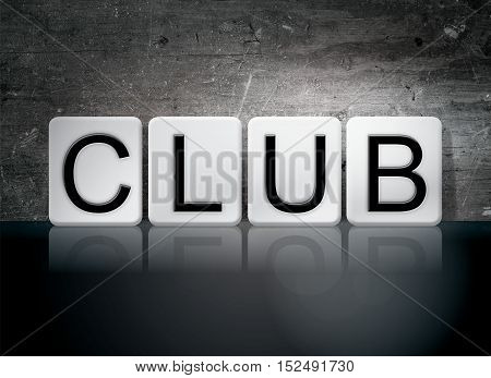 Club Tiled Letters Concept And Theme