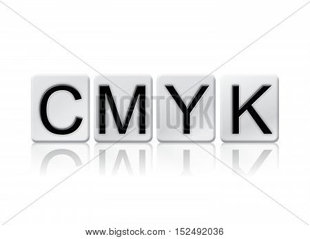 Cmyk Isolated Tiled Letters Concept And Theme