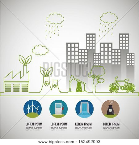 environmental issues infographic elements vector illustration eps 10