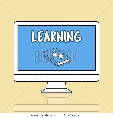 Computer Learning Education Graphic Concept
