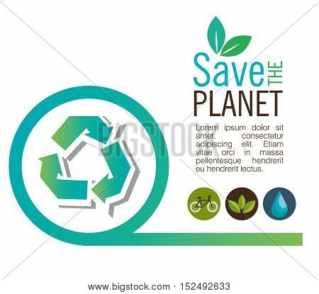 info graphic recycle ecological icon design vector illustration eps 10