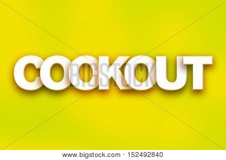 Cookout Concept Colorful Word Art