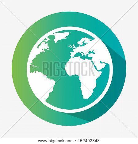 green globe earth environmental eco graphic vector illustration