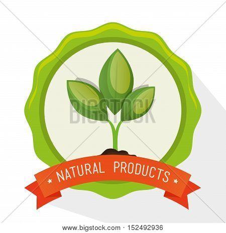 symbol natural product plant label vector illustration eps 10