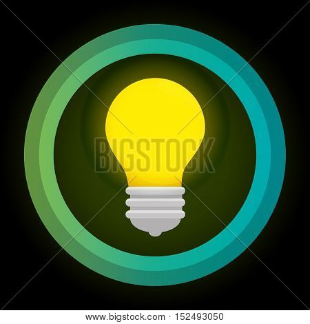 green eco energy bulb concept vector illustration eps 10