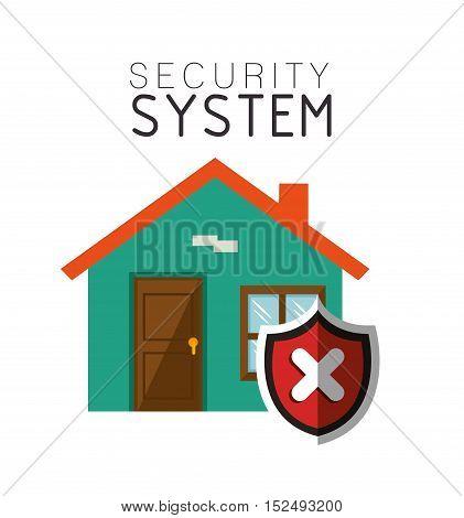 security system house smart design vector illustration eps 10