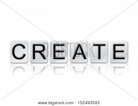 Create Isolated Tiled Letters Concept And Theme