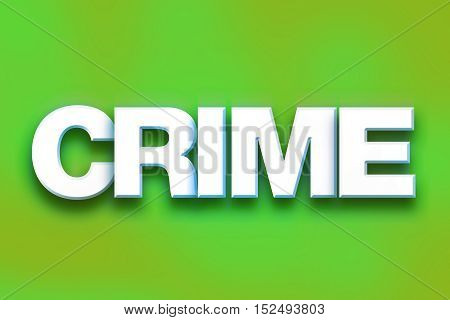 Crime Concept Colorful Word Art