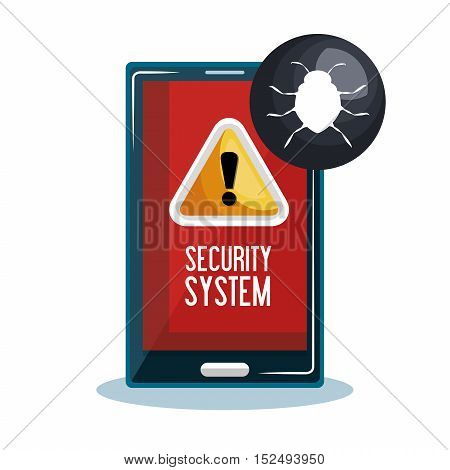mobile phone security system vector illustration eps 10