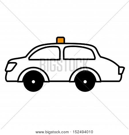 taxi vehicle service public isolated icon vector illustration design
