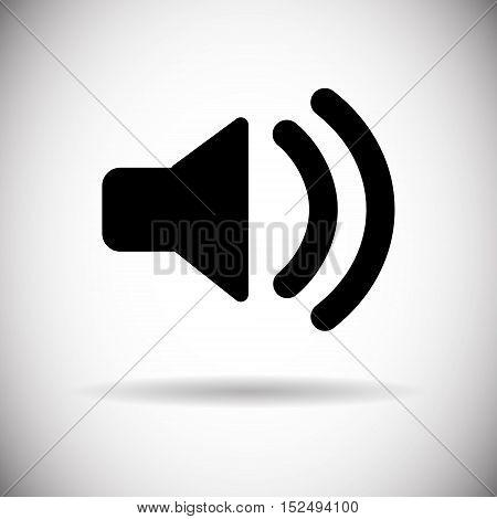 Music Sound Volume Megaphone Icon Flat Vector Illustration