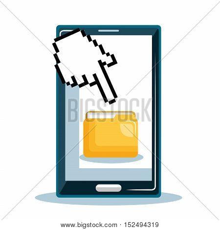 smartphone file data security vector illustration eps 10