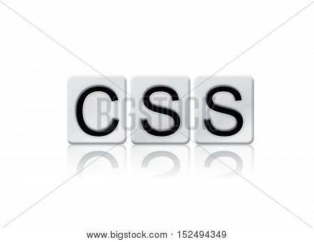 Css Isolated Tiled Letters Concept And Theme