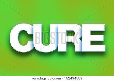 Cure Concept Colorful Word Art