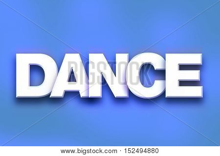 Dance Concept Colorful Word Art