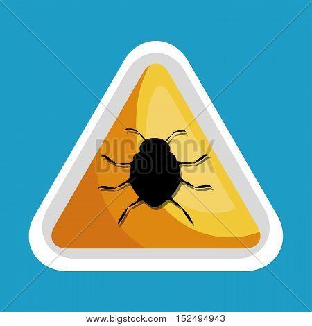 security data alert virus icon design vector illustration eps 10