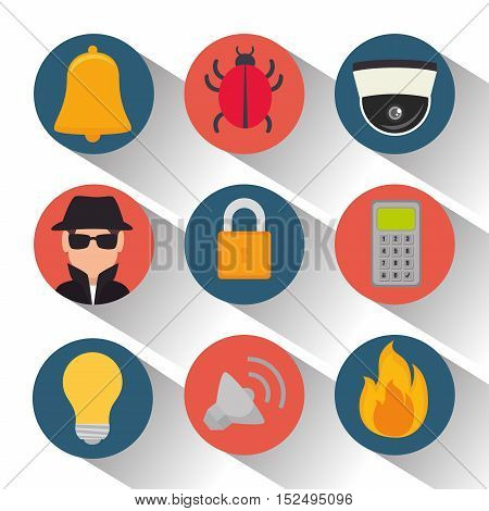 set security system protection data vector illustration eps 10