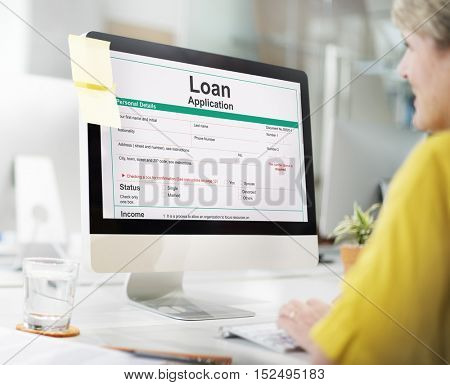 Loan Application Form Banking Concept