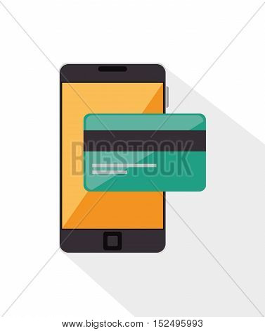 credit card bank online mobile phone vector illustration eps 10